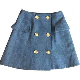 Charles Anastase Blue Cotton Skirt for Women
