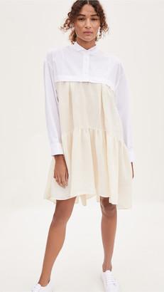 Marni Long Sleeve Button Down Top Dress