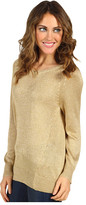 Vince Camuto High Low Lurex Sweater