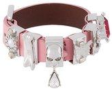 Alexander McQueen multi charm skull bracelet
