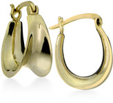 Giani Bernini Sculptural Curved Hoop Earrings in 18k Gold-Plated Sterling Silver, Only at Macy's