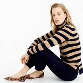 J.Crew Italian cashmere ribbed turtleneck in stripe