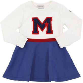 Moncler Logo Patch Cotton Blend Dress