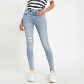 River Island Light blue ripped Amelie super skinny jeans