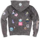 Butter Shoes Girls' Mineral-Washed I Love Snow Hoodie - Big Kid