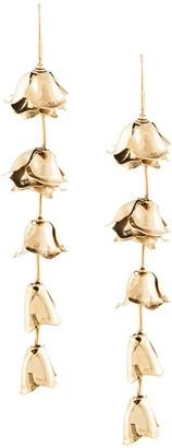 Jennifer Behr Cut-Out Hanging Rose Earrings