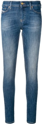 Diesel Super Skinny Faded Jeans