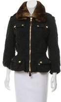 Burberry Fur-Trimmed Lace Jacket