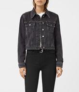 AllSaints Zita Studded Denim Jacket