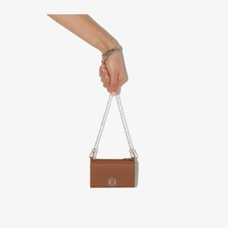 Loewe Brown Anagram Chain Strap Leather Wallet
