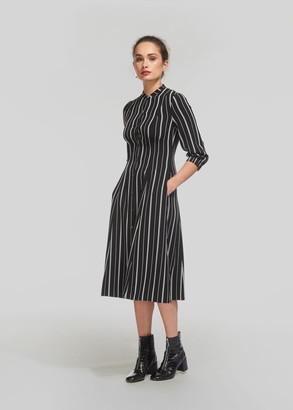 Leesa Stripe Shirt Dress