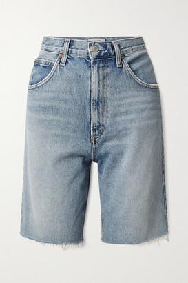 AGOLDE Net Sustain Pinch Distressed Organic Denim Shorts