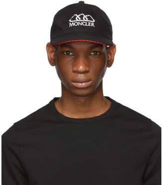 Moncler Black Berretto Baseball Cap