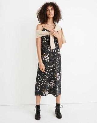 Madewell Silk Eva Slip Dress in Polka Daisies