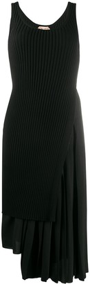 No.21 Asymmetric Ribbed Dress