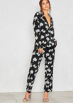 Missy Empire Kelsey Blue Floral PJ Style Trousers