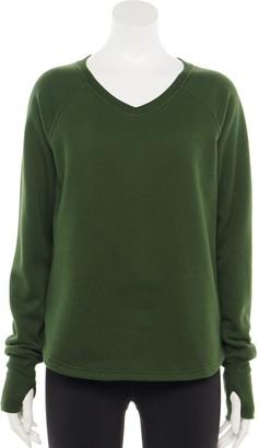 Tek Gear Women's Fleece V-Neck Sweater