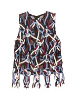 Christopher Kane Rope-embroidered mesh top
