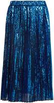 No.21 NO. 21 Sequin-embellished pleated skirt