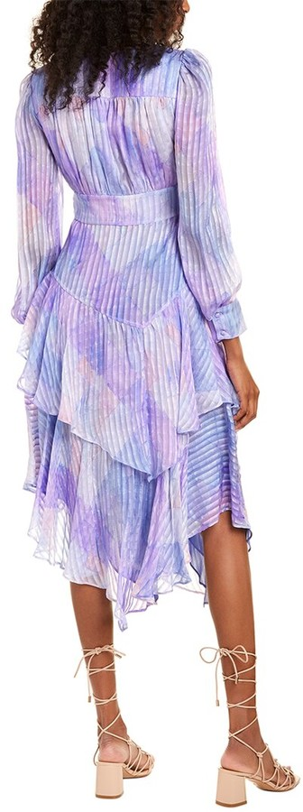 Thumbnail for your product : LoveShackFancy Meridian Silk Maxi Dress
