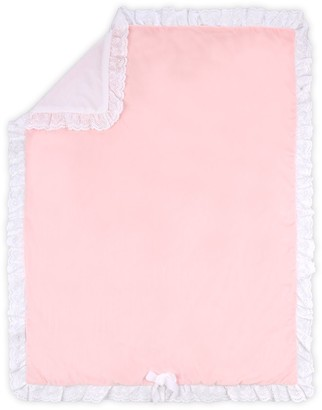 The Peanut Shell Farmhouse Pink Crystal Velour Blanket