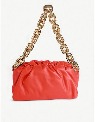Bottega Veneta The Pouch chain-embellished leather shoulder bag