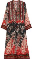 Etoile Isabel Marant Tilda Printed Crepe De Chine Dress - Red