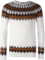 Laneus geometric print jumper