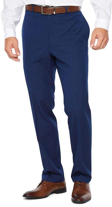 282f6175fa5d3 Men's Stretch Flex Slim-Fit Flat-Front Hemmed-Leg Suit Pants
