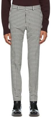 Ami Alexandre Mattiussi Black and Off-White Gingham Cigarette Trousers