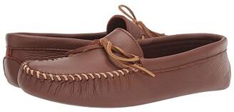 Minnetonka Double Deerskin Softsole (Caramel) Men's Shoes
