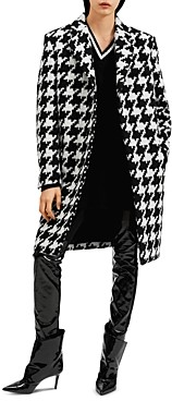 Barbara Bui Oversized Houndstooth Print Coat