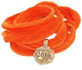 Catherine Michiels Le 2036 Tablet Bronze Charm & Silk Bracelet Wrap