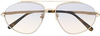 Brioni Two-Tone Aviator-Frame Sunglasses