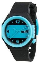 Neff NF0225-BKBL Men's Stripe Stylish Rubber Band Two-tone Dial Watch