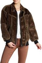 G Star Deline Faux Fur Lined Bomber Jacket