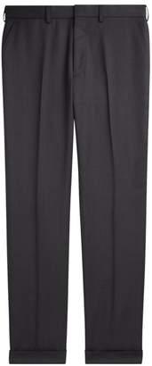 Ralph Lauren Purple Label Greg Flat-Front Wool Pants