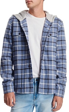 Paige Slim Fit Gavin Hooded Shirt Jacket