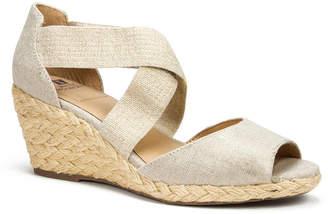 White Mountain Hudlin Espadrille Wedge Sandals Women Shoes