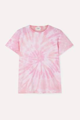 RE/DONE Classic Tie-dyed Cotton-jersey T-shirt - Pink
