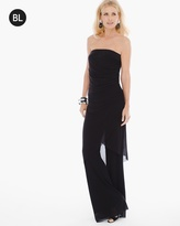 Chico's Strapless Mesh Jumpsuit