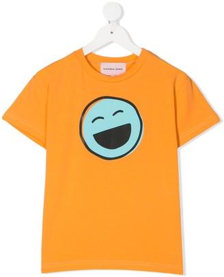 Natasha Zinko Kids Laughing Smile crew neck T-Shirt
