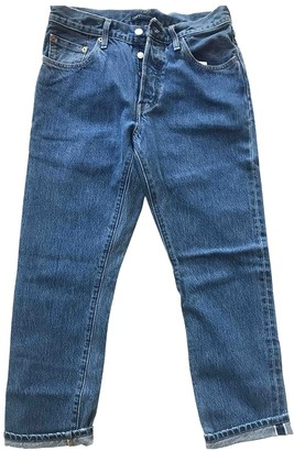 Levi's Made & Crafted Blue Cotton Jeans for Women