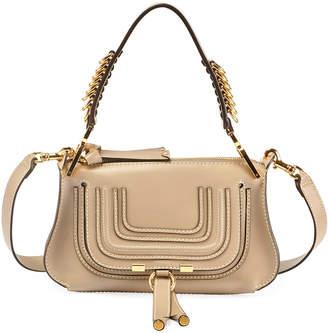Chloé Marcie Small Shiny Saddle Shoulder Bag