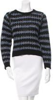 Theyskens' Theory Open Knit Crew Neck Sweater
