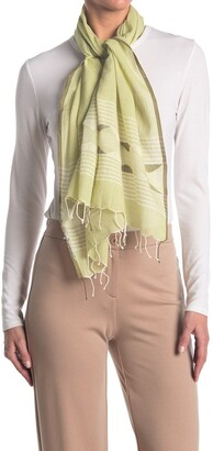 Eileen Fisher Handloomed Organic Cotton Triangles Scarf