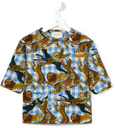 Gucci Kids - jungle animal print T-shirt - kids - Cotton - 6 yrs