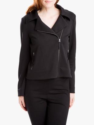 Max Studio Textured Knit Biker Jacket, Black