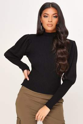 I SAW IT FIRST Knitted Puff Sleeve Jumper