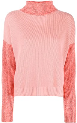 Chinti and Parker Colour-Block Roll Neck Jumper